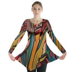 Vivid Colours Long Sleeve Tunic