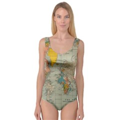 Vintage World Map Princess Tank Leotard