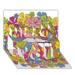 Makelovenotwar Miss You 3D Greeting Card (7x5)
