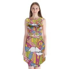 Makelovenotwar Sleeveless Chiffon Dress