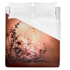 Wonderful Flowers In Soft Colors With Bubbles Duvet Cover Single Side (queen Size)