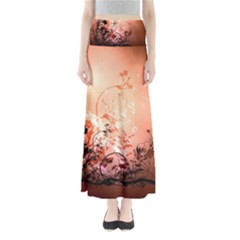 Wonderful Flowers In Soft Colors With Bubbles Maxi Skirts