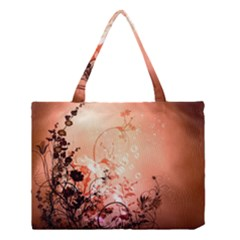Wonderful Flowers In Soft Colors With Bubbles Medium Tote Bag