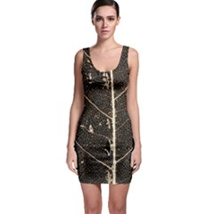 Vein Skeleton Of Leaf Sleeveless Bodycon Dress
