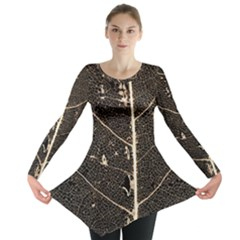 Vein Skeleton Of Leaf Long Sleeve Tunic