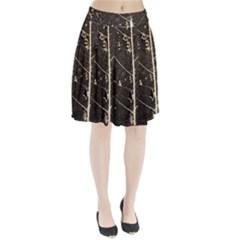 Vein Skeleton Of Leaf Pleated Skirt