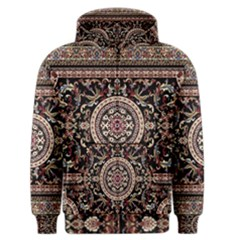 Vectorized Traditional Rug Style Of Traditional Patterns Men s Zipper Hoodie