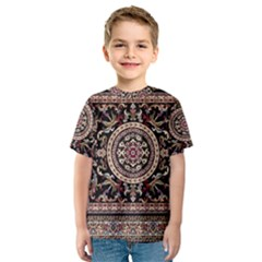 Vectorized Traditional Rug Style Of Traditional Patterns Kids  Sport Mesh Tee