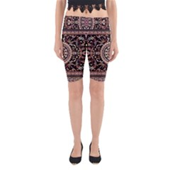 Vectorized Traditional Rug Style Of Traditional Patterns Yoga Cropped Leggings