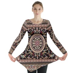 Vectorized Traditional Rug Style Of Traditional Patterns Long Sleeve Tunic