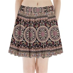 Vectorized Traditional Rug Style Of Traditional Patterns Pleated Mini Skirt