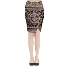 Vectorized Traditional Rug Style Of Traditional Patterns Midi Wrap Pencil Skirt