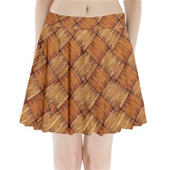 Vector Square Texture Pattern Pleated Mini Skirt