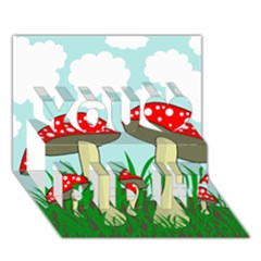 Mushrooms  You Did It 3D Greeting Card (7x5)