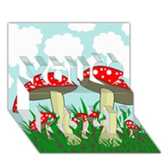 Mushrooms  You Rock 3D Greeting Card (7x5)