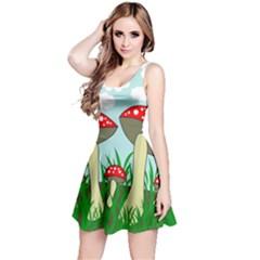 Mushrooms  Reversible Sleeveless Dress