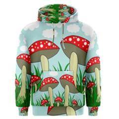 Mushrooms  Men s Pullover Hoodie