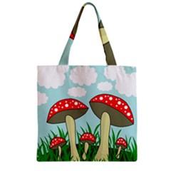 Mushrooms  Zipper Grocery Tote Bag