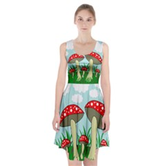 Mushrooms  Racerback Midi Dress
