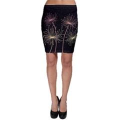 Elegant dandelions  Bodycon Skirt