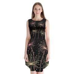 Elegant Dandelions  Sleeveless Chiffon Dress