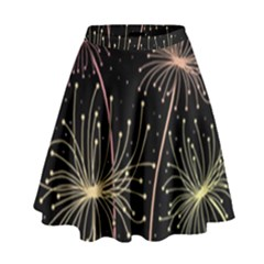 Elegant dandelions  High Waist Skirt