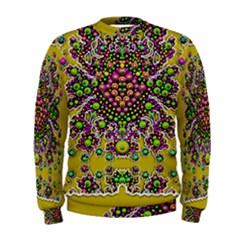 Fantasy Flower Peacock With Some Soul In Popart Men s Sweatshirt