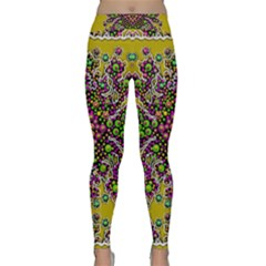 Fantasy Flower Peacock With Some Soul In Popart Yoga Leggings