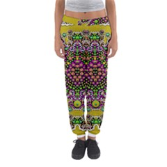 Fantasy Flower Peacock With Some Soul In Popart Women s Jogger Sweatpants