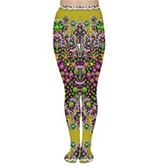Fantasy Flower Peacock With Some Soul In Popart Women s Tights