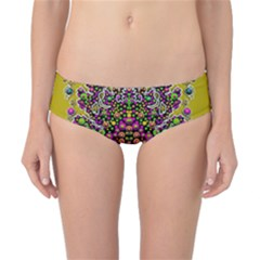 Fantasy Flower Peacock With Some Soul In Popart Classic Bikini Bottoms