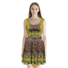 Fantasy Flower Peacock With Some Soul In Popart Split Back Mini Dress