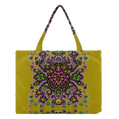 Fantasy Flower Peacock With Some Soul In Popart Medium Tote Bag