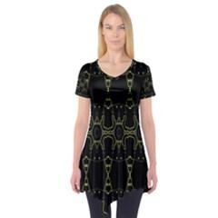 Black Wand Short Sleeve Tunic
