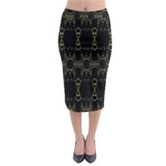 Black Wand Midi Pencil Skirt
