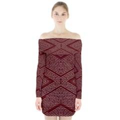 Gggfgdfgn Long Sleeve Off Shoulder Dress