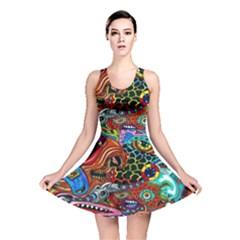 Vector Art Pattern Reversible Skater Dress