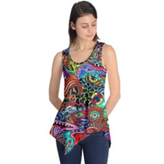 Vector Art Pattern Sleeveless Tunic