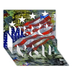 Usa United States Of America Images Independence Day Miss You 3D Greeting Card (7x5)