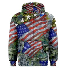 Usa United States Of America Images Independence Day Men s Zipper Hoodie