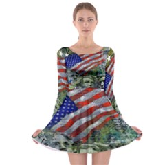 Usa United States Of America Images Independence Day Long Sleeve Skater Dress
