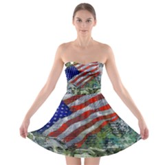 Usa United States Of America Images Independence Day Strapless Bra Top Dress