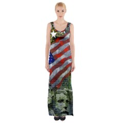 Usa United States Of America Images Independence Day Maxi Thigh Split Dress