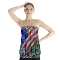 Usa United States Of America Images Independence Day Strapless Top