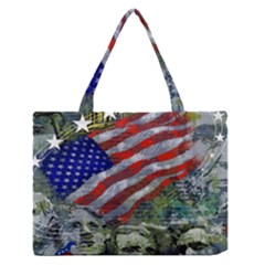 Usa United States Of America Images Independence Day Medium Zipper Tote Bag