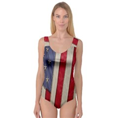 Usa Flag Princess Tank Leotard