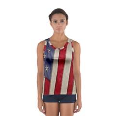 Usa Flag Women s Sport Tank Top