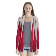 Usa Flag Drape Collar Cardigan