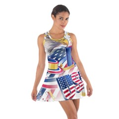 United States Of America Usa  Images Independence Day Cotton Racerback Dress