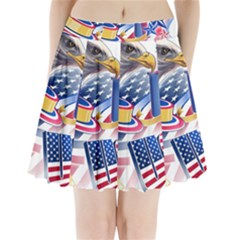 United States Of America Usa  Images Independence Day Pleated Mini Skirt